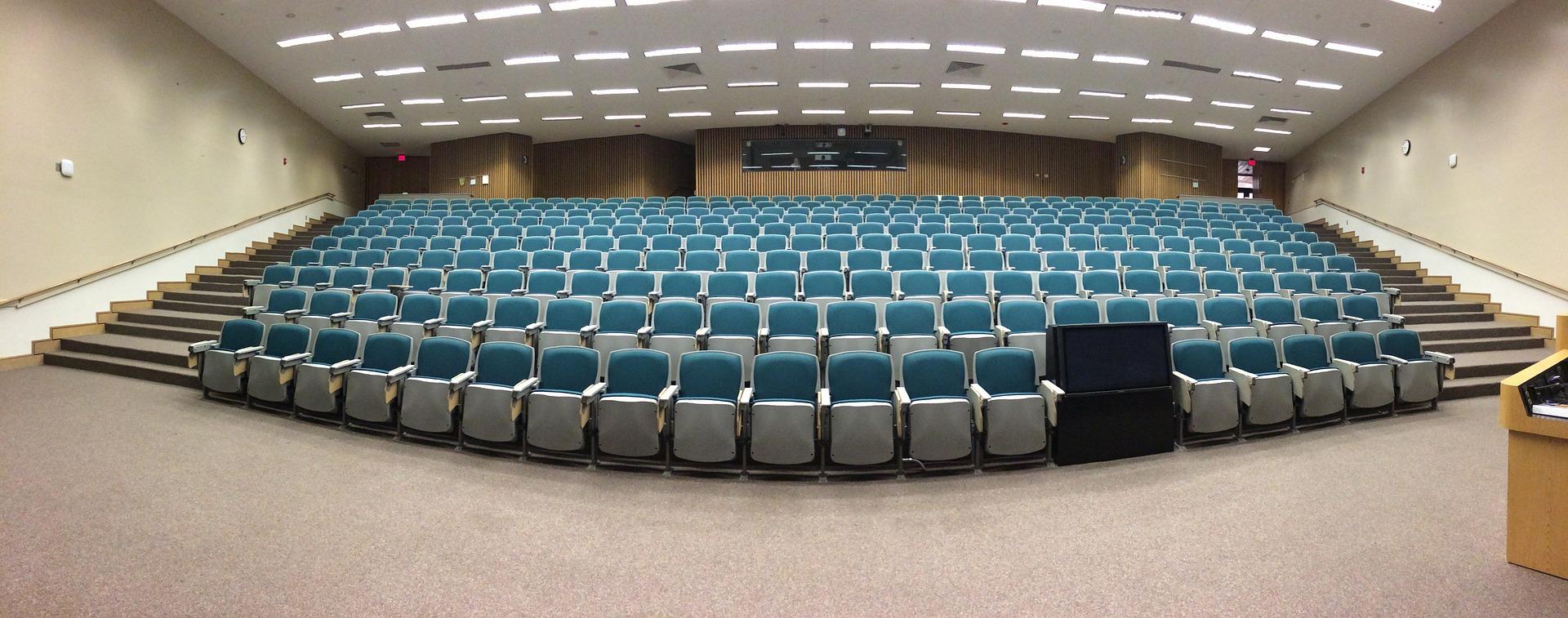 Auditorium seats, empty